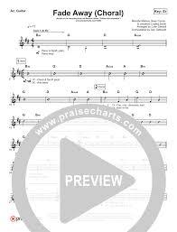 Fade Chart Fade Away Choral Rhythm Acoustic Guitar Chart