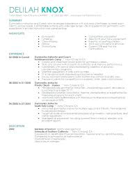 Coaching Resume Samples Adorable College Football Coach Resume Sample Career Cv Template Uk