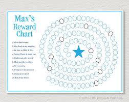 Editable Reward Chart Sticker Chart Behaviour Chart
