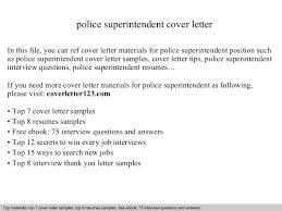 police superintendent cover letter superintendent cover letter