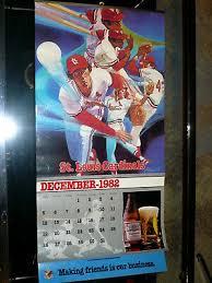 Vintage Anh Busch St Louis Cardinals Dec Thrumar 1982 83 Calendar Stadium Chart Ebay