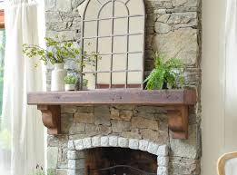 how to hang a wood mantel on a stone fireplace using rebar before after four generations one roof