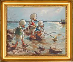 ducklings playing on the s by albert eiderfelt credit ateneum art museum