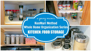 Organization For Kitchen Konmari Organization Kitchen Food Storage Before After Youtube