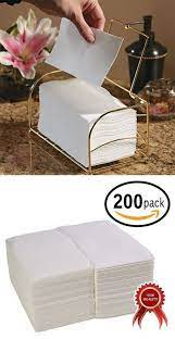 200 Pack Linen Feel Guest Towels Disposable Cloth Like Tissue Paper Hand Napkins White Guest Towel Paper Guest Hand Towels Paper Guest Towels Guest Towels