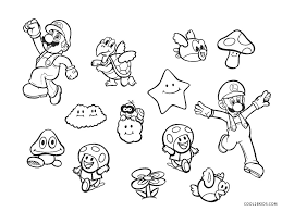 There are 36 printables of mario to color here and it's not just mario. Free Printable Mario Brothers Coloring Pages For Kids