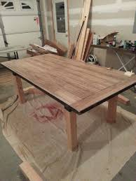 diy farmhouse table plans awesome diy dining table laminate flooring as the table top within a