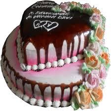 lovely heart layer cake