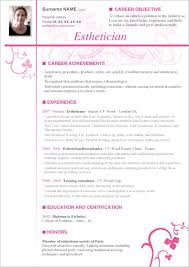 Gallery Of Medical Esthetician Cover Letter Esthetician Resume
