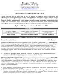 Sample Resume For Military Members Returning To Civilian Life Save