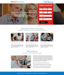 previous next medical insurance quick quote mini landing page design