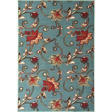ottomanson ottohome collection fl design sage green 8 ft x 10 ft area rug