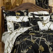 realtree all purpose black camouflage bedding