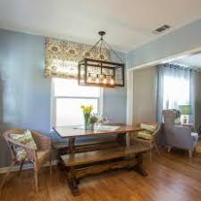 industrial style dining room lighting. light blue dining room with industrial fixture style lighting