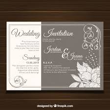 Wedding Card Template Classy Wedding Card Template With Vintage Style Vector Free Download