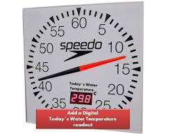 pace clock temperature display