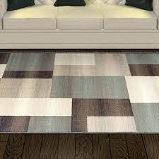 williston forge svetlana power loomed light blue brown area rug blue and brown area rug blue