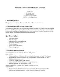 sample cover letter system administrator network administrator resume sample cover letter template for junior