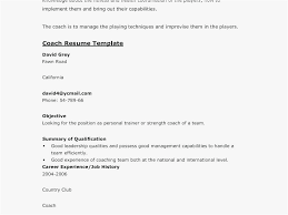 How To Write A Soccer Resume Soccer Resume Free Coach Template
