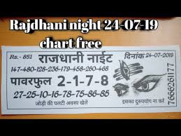 Rajdhani Chart Rajdhani Night 24 07 19 Bhole Baba Chart Free