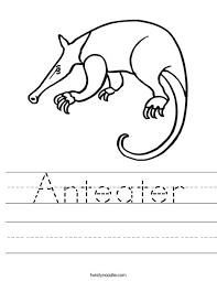 Small Picture Anteater Worksheet Twisty Noodle