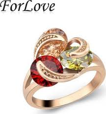 <b>2020 new fashion Exaggerated</b> cz Rose COLOR Rings for women O ...