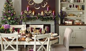 Christmas Dining Room Green And Red Christmas Dining Room Traditional Decorating Ideas