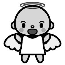 かわいい天使の無料イラスト商用フリー オイデ43