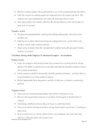 Job Performance Evaluation Form Page Best Self Appraisal Examples ...