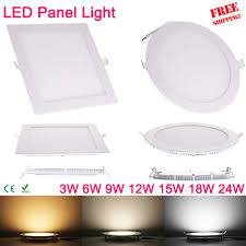 Promotional Led Lights Us 2 88 63 Off Ultra Thin 3w 6w 9w 12w 15w 18w 24w Square Led Panel Downlight Round Led Ceiling Recessed Lights 4000k Neutral Led Panel Light In