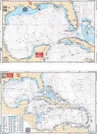 Mexico Navigation Charts Waterproof Navigation Charts Caribbean Sea Gulf Of Mexico