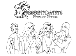 Stunning Mal Coloring Page Disney Descendants You Jane From Pic For