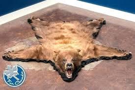 bear skin rug faux large polar