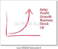 Stock Chart Art Exponential Growth Chart Art Print Poster