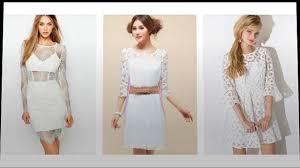 Lange Hülse Spitzenkleid Weißes, Schöne Weißes Kleid Mit Spitze ...