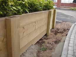 if you are stacking the sleepers horizontally on their narrowest side e g on the 125mm width on a 250mm x 125mm sleeper and two or more sleepers high