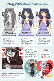 commission sheet new commission sheet open by marylittlerose on deviantart