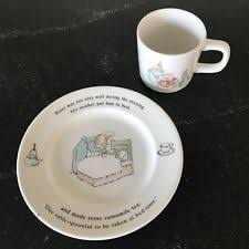 item 2 vine wedgwood peter rabbit cup and plate set baby child nursery gift vine wedgwood peter rabbit cup and plate set baby child nursery gift