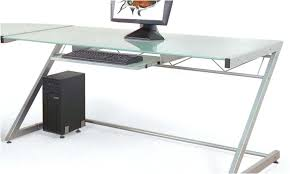 contemporary glass office desk. Modern Glass Desk Office As Well Solemn Looking With . Contemporary