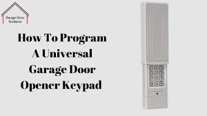 a universal garage door opener keypad