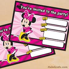 free minnie mouse invitation template free printable minnie mouse birthday invitation