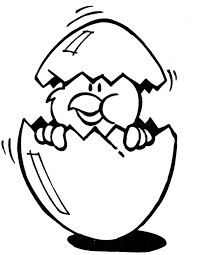 Kleurplaten Pasen Ei
