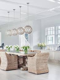 cottage style dining room lighting. chic cottage dining room features four jute rope globe pendants satin nickel illuminating a light wood style lighting u