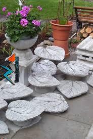 beton blätter als deko oder vogeltränke verwenden garten concrete leaves