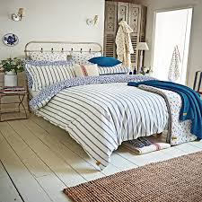 entranching duvet cover king size in sea ditsy super kingsize blue