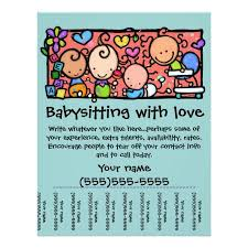 Samples Of Daycare Flyers Babysitting Flyer Templates Postermywall Daycare Flyers