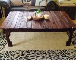 Rustic Reclaimed Wood Coffee Table In Medium Oak Stain UnderPallet Coffee Table Etsy