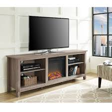 electric fireplace tv stand the brick