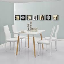 Esstisch Mit 4 Stühlen Weiß 120x70cm Küchentisch Esszimmertisch