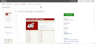 secret santa gift exchange template or printable for microsoft excel